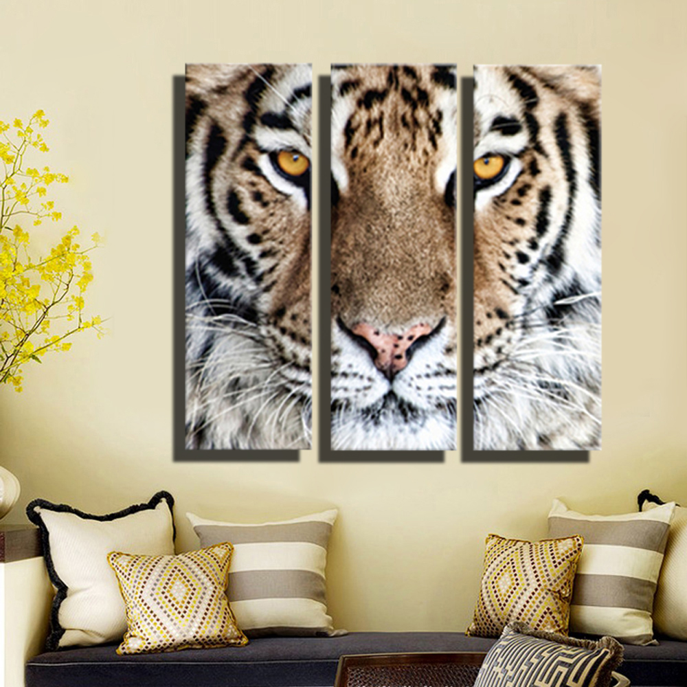 Home Decor Art Wall Decor Wall Decor ~ Hd oil painting tiger head wall art home decor animal on