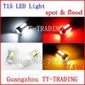 O envio gratuito de 2 pçs/lote W16W T15 7.5 w super bright LED Car Reverso Luz Traseira Lâmpada Branco vermelho âmbar