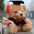 1 pieces Mini 17cm Animals Bear Doll Doctor service dr. cap Graduation Gift  Plush Toys present for boy girl