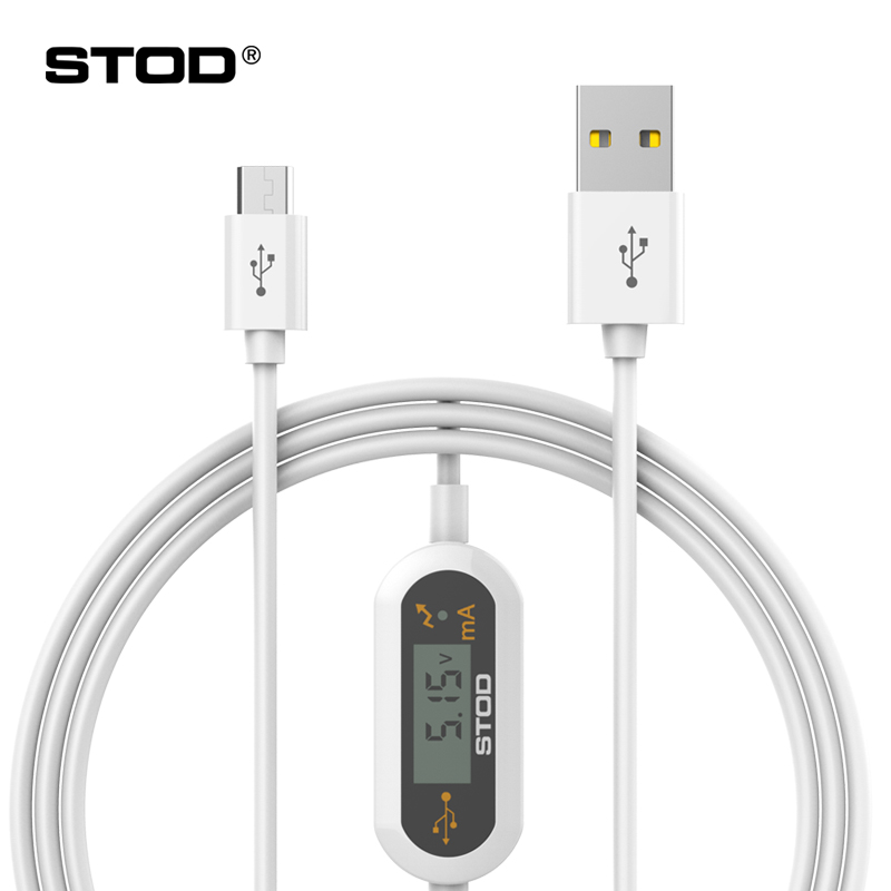 STOD Micro USB Cable LED Monitor Current Voltage 2A Protect Fast Charge Protect for Samsung Lenovo Huawei ZTE Xiaomi Charge Detect Wire