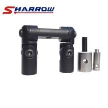цена на Sharrow 1 Piece Double Sided V-bar Black Aluminum Alloy Adjustable V-bar Quick Disconnect Kit for Compound Bow