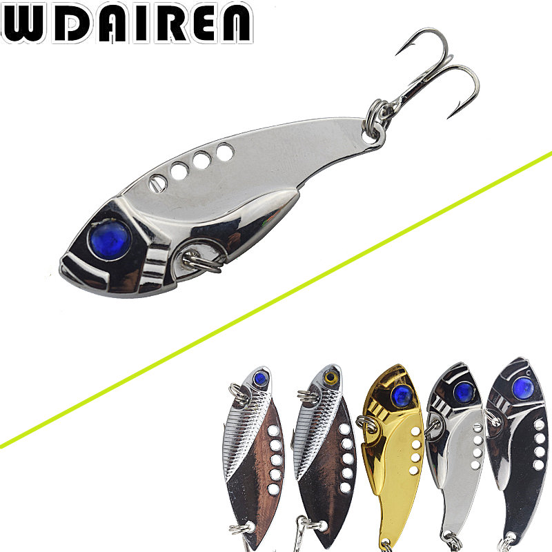 1PCS Metal Spoon Fishing Lure 11g 5.5cm Bass Crank Bait Treble With 2 Hooks VIB Bait Lead Fish Crankbait NE-237 kkwezva 5pcs 6g free shipping spoon fishing lure spoon lure treble hook metal lure for fishing hard bait fly fishing
