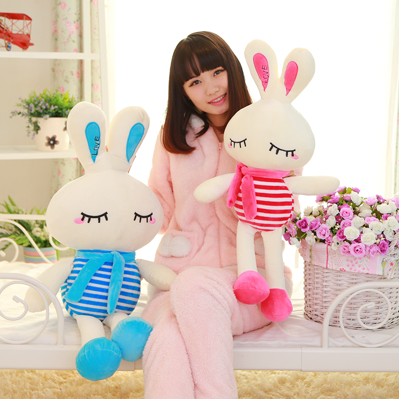 Navy Bunny plush toys lovely birthday gift ideas Valentine's Day to send his girlfriend doll pillow animal lovely giant panda about 70cm plush toy t shirt dress panda doll soft throw pillow christmas birthday gift x023