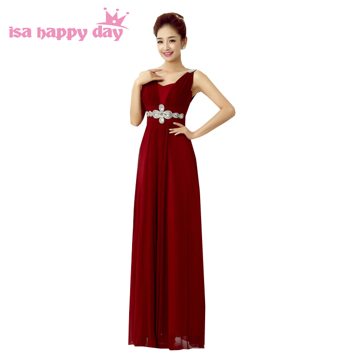 Aliexpress.com : Buy Top V Neck 2018 Bridesmaid Long Party