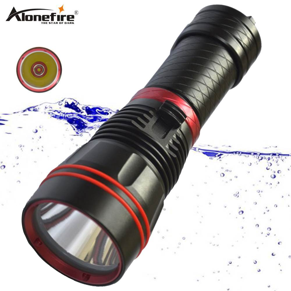 Alonefire DX1S Diving Flashlight L2 led Underwater Waterproof scuba diver flash light torch LED Flashlights     - title=