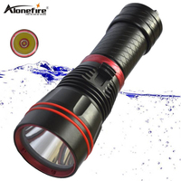 Alonefire DX1S Diving Flashlight L2 led Underwater Waterproof scuba diver flash light torch