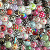 10mm Mixed Style Round Glass Cabochon Dome Jewelry Finding Cameo Pendant Settings 50pcs/lot (K02711)