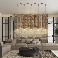 Nordic Loft Long Stick Led Chandelier Creative Gold Art Living Dinner Led Aisle Bar Down Light Fixtures Free Shipping