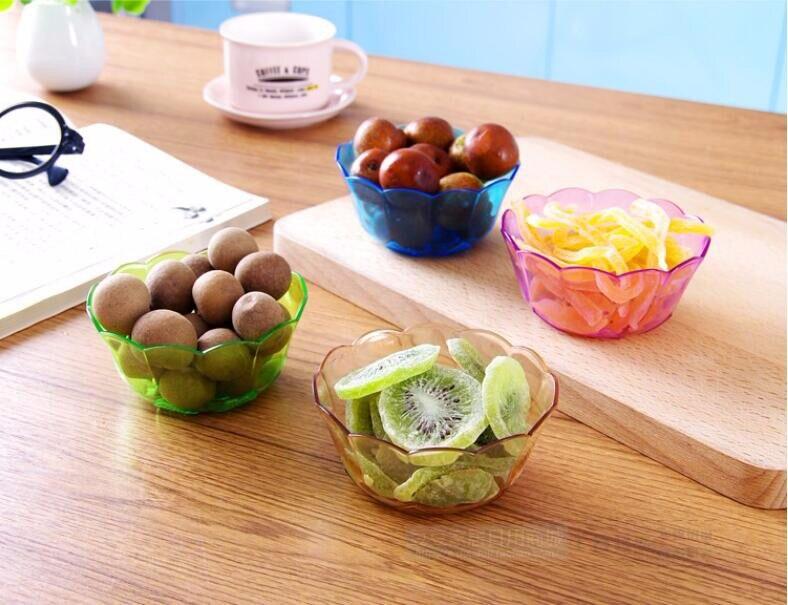 prato de Frutas Saladeira Lanche Tigela 4 Peças lote Pequeno Cristal