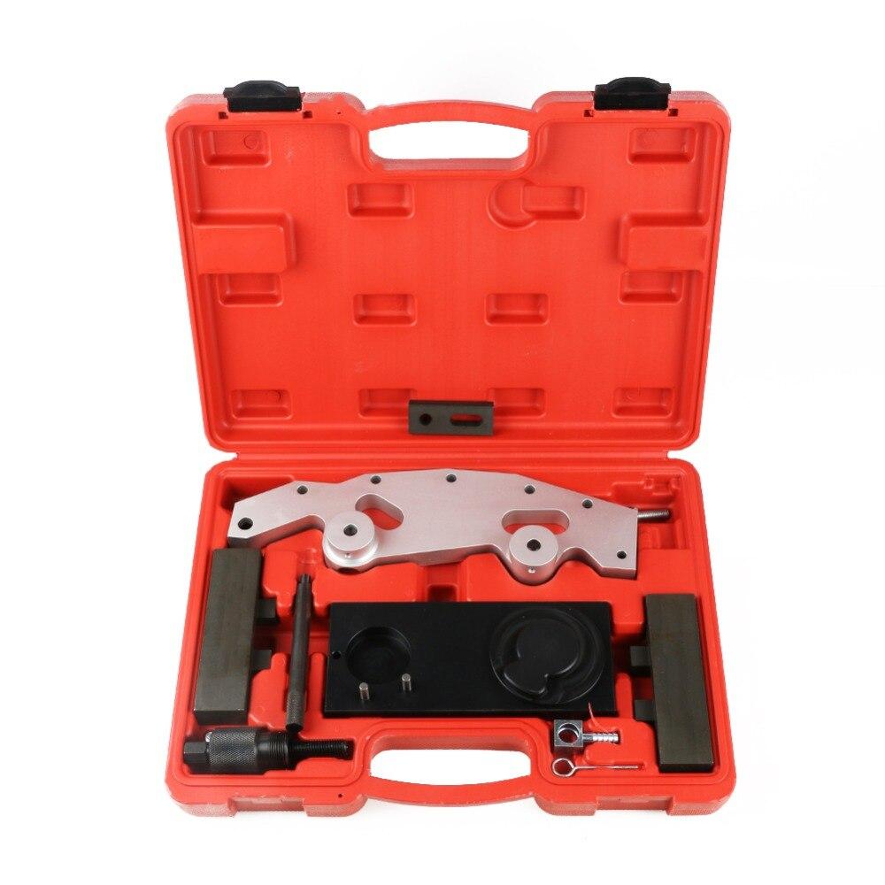 10 pièces Kit d'outils de distribution de moteur pour BMW moteurs spéciaux outils de réparation d'étalonnage M52TU M54 M56 N51N52 N53 N54 N55