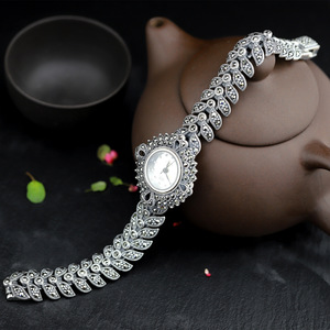 Image 2 - The new elegant business 925 sterling silver womens autumn bracelet watches