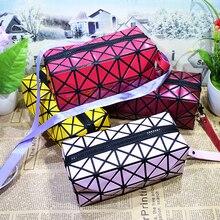 Fashion Waterproof Cosmetic Bag Polyester Storage Make Up Organizer Jewelry Square Bag Bathroom Travel Handbag Wash