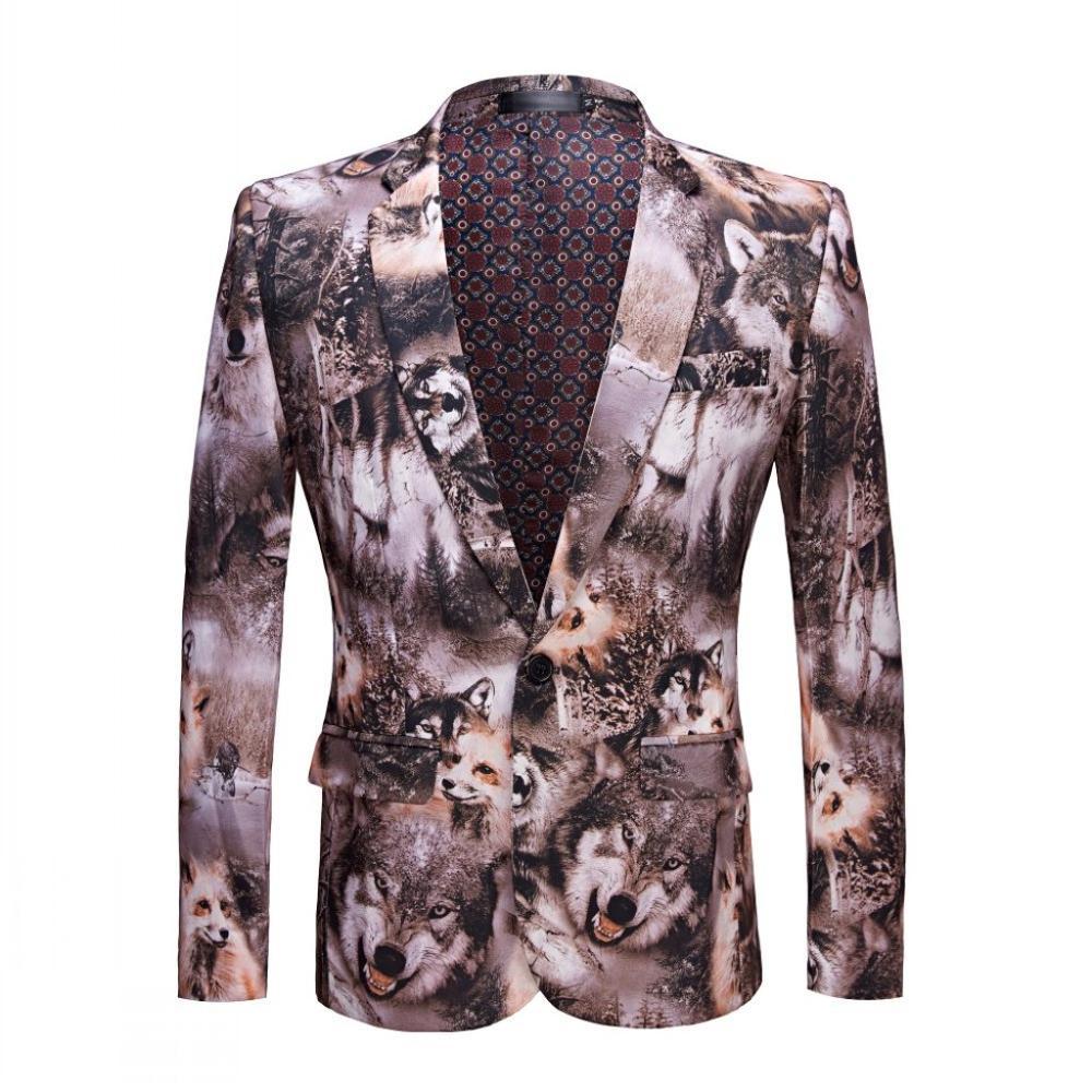 GL & DR imprimé costume loup totem motif manteau professionnel design loisirs et loisirs fête manteau minceur forme parfaite