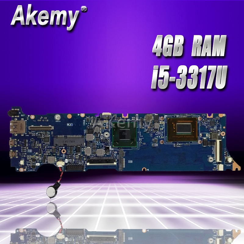 Akemy UX31A2 Laptop motherboard for ASUS UX31A UX31 Test original mainboard 4G RAM i5-3317U REV2.0Akemy UX31A2 Laptop motherboard for ASUS UX31A UX31 Test original mainboard 4G RAM i5-3317U REV2.0