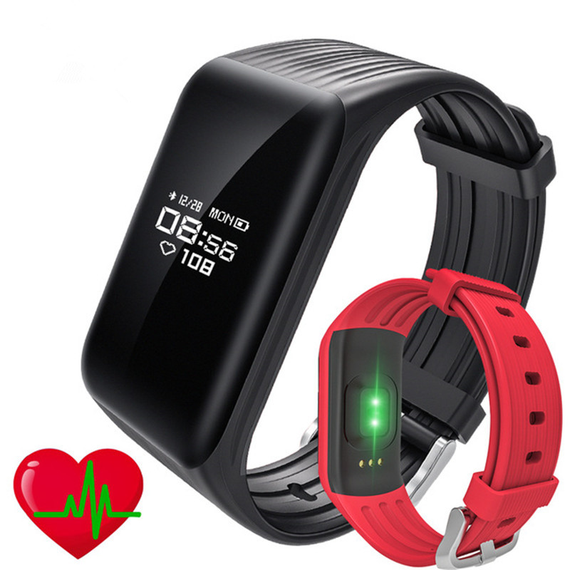 Sport Fitness Tracker Smart Bracelet Real-time Heart Rate Monitor IP68 Waterproof Watch with Sleep Monitor Pedometer Wristband