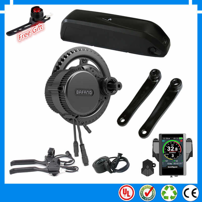 EU US no tax 2019 NEW 36V 250W BBS01B Bafang mid drive electric motor kit with 36V 13Ah 17.5ah Li-ion down tube ebike battery