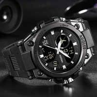 Nouveau Style de mode militaire hommes Sport montres 50M étanche luxe Sport montre hommes Quartz numérique en plein air plongée montre-bracelet