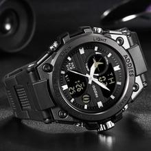 Reloj de natación de lujo, relojes deportivos digitales para hombre, reloj deportivo LED de 30M para hombre, relojes deportivos a prueba de agua para hombre, reloj de pulsera de moda para hombre