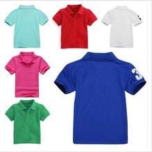 7a3b8078c7e Для мальчиков и девочек с короткими рукавами рубашка-поло с короткими  рукавами детей хлопок классические