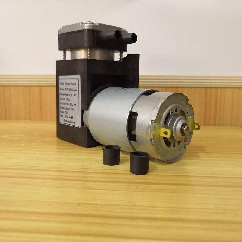 580kpa Pressure 48L/M Flow Rate DC Diaphragm Mini Compressor DC 12V  24V  Brush Motor