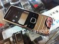 Plata/negro/color de oro para nokia 6700 6700c caso tapa de la carcasa completa con teclado completo reemplazo; envío gratis