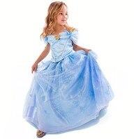 2017 New Baby Girls Dress Cinderella Cosplay Costume Party Dress Princess Dress Cinderella Costume