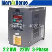 Free Shipping New 2 2kw 3HP 220V 10A Usual VFD Inverter Variable Frequency Drive Inverter For