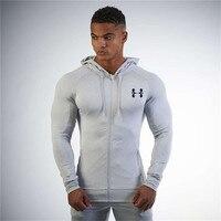 Nowa Moda Swetry kurtka Bluzy Mięśni Kulturystyka i fitness męska wiatr płaszcz rozrywka kurtka Dres Mężczyźni ROZMIAR