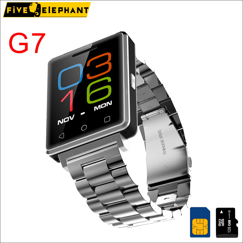 New Version G7 Smart Watch Bluetooth Smartwatch Steel Straps Sport Business for iPhone Samsung for Android huawei xiaomi
