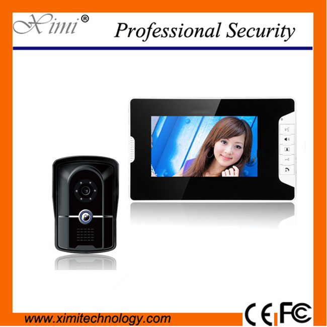 High quality door bell access control  7 inch color screen wired video door phones 813FG11 wired video intercom exported quality screen printing frame 7 5x10 inch 19x25cm wholesale price door to door