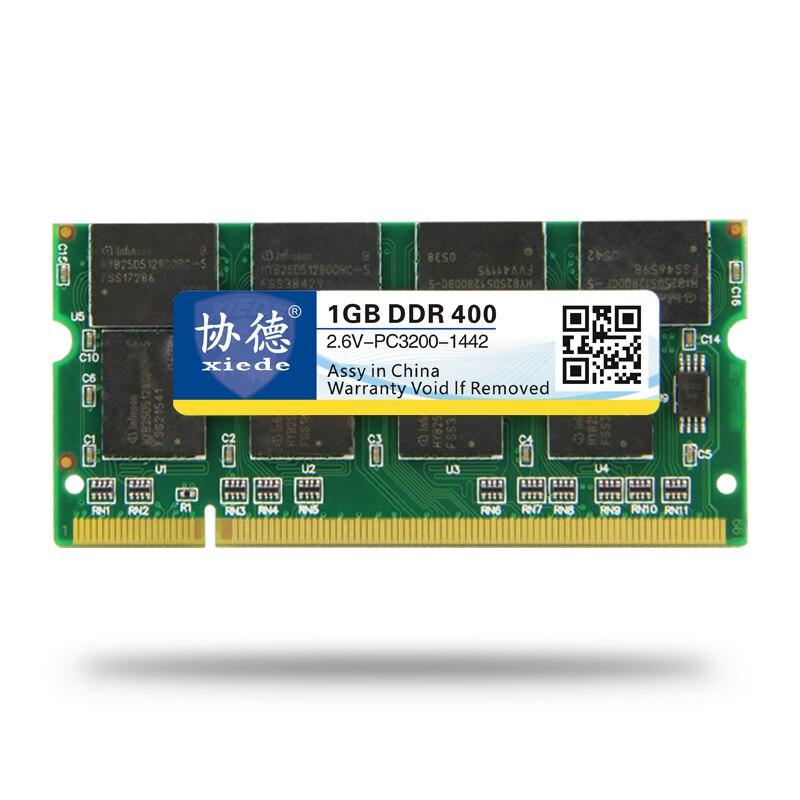 XieDe памяці наўтбука АЗП SODIMM DDR1 DDR 400 333 Мгц / PC-3200 PC-2700 200 Pins 512 МБ 1 ГБ для наўтбукаў SODIMM MEMORIA Дамкраты