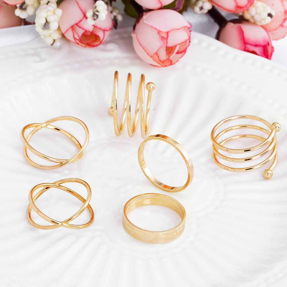HTB1fDHeRpXXXXbpXpXXq6xXFXXXx Posh 6-Pieces Cuff Finger Ring Gift Set For Women - 2 Colors