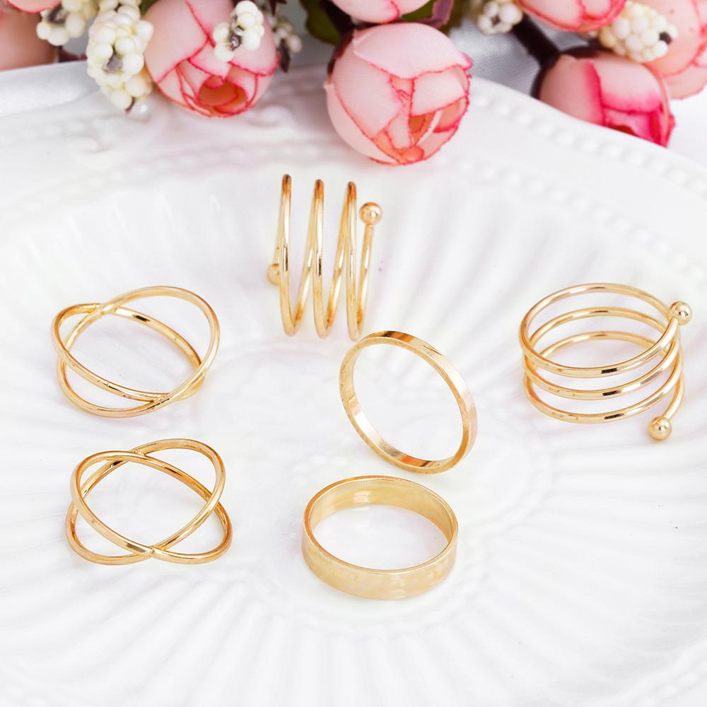HTB1fDHeRpXXXXbpXpXXq6xXFXXXx Posh 6-Pieces Cuff Finger Ring Gift Set For Women - 2 Colors