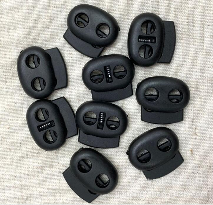 Constructive 10pcs/pack 2 Hole The Pig Nose Buckle Cord Lock Bean Toggle Stopper Double Orifice Adjust The Buckle Hairnets