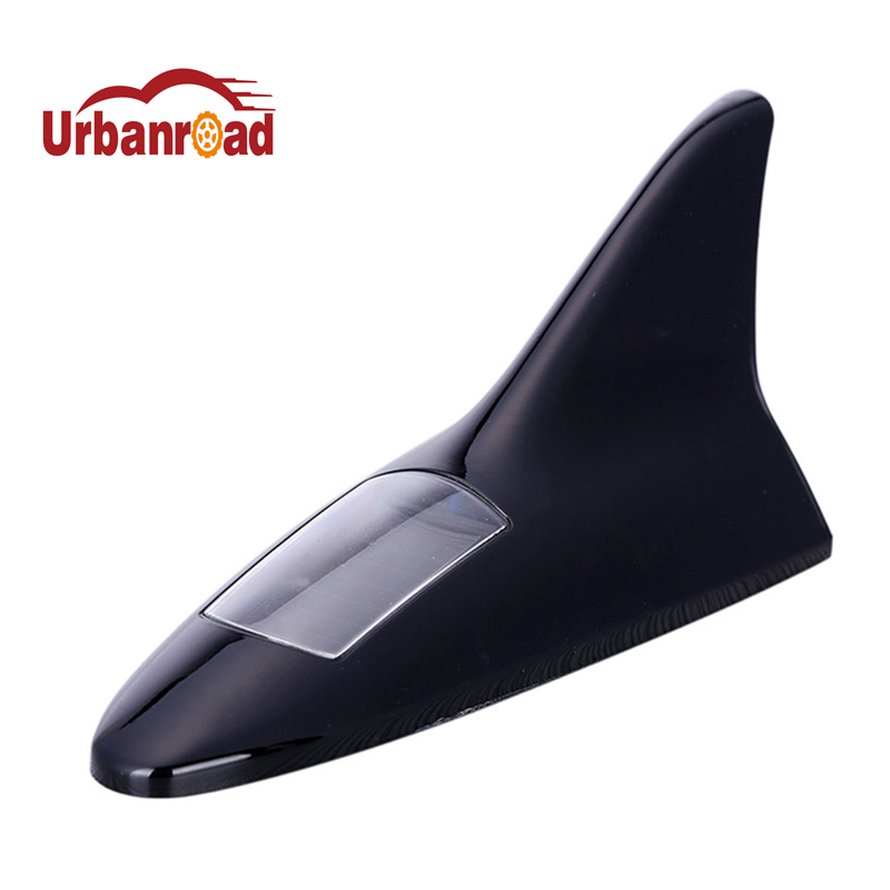Universal Auto Car Shark Fin Solar Powered Flash 8- LED Flash Lights High Positoned Alarm Light Security Warning Tail Light