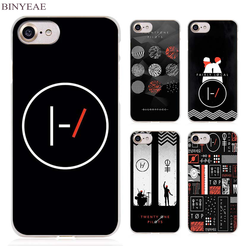 BINYEAE 21 Pilots twenty one pilots Clear Cell Phone Case Cover for Apple iPhone 4 4s 5 5s SE 5c 6 6s 7 Plus