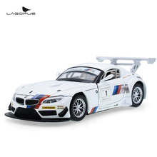 High-quality For Z4 1: 32 Alloy Model MINI Car Children's Toys Car Christmas Gifts Pull Back Toys Car with Sound&Light