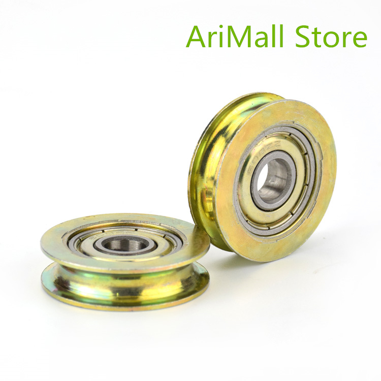 5pcs 8*32*8.3mm U Type Groove Pulley Concave Wheel Metal Pulley 608zz Bearing Steel Wire Pulley