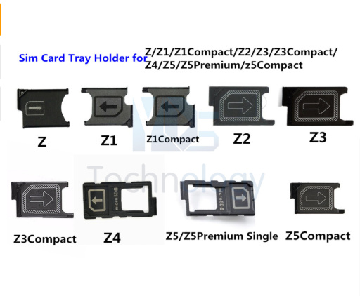 1PC New Micro Sim Card Tray Holder Slot For Sony Xperia Z Z1 Z2 Z3 Z3 Mini Z4 Z5 Z5 Premium Z5 Compact Sim Card Holder Part