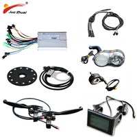 Jueshuai Electric Bicycle 36/48V 500W Controller LCD Display PAS sensor cool Throttle for E bike Parts with waterproof cable