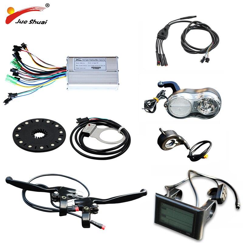 Jueshuai vélo électrique 36/48 V 500 W contrôleur LCD affichage PAS capteur cool accélérateur pour pièces e-bike avec câble étanche