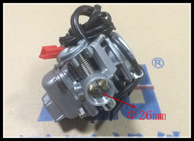 26mm Sunl 150 Carburetor 150cc GY6 Carb 4 Stroke Kinesisk Scooter Moped 157 NYHET
