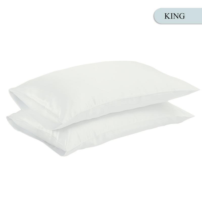 Queen/KING Silk Satin Pillow Case Bedding Pillowcase Smooth Home White Black Grey Khaki Sky Blue Pink Sliver 16