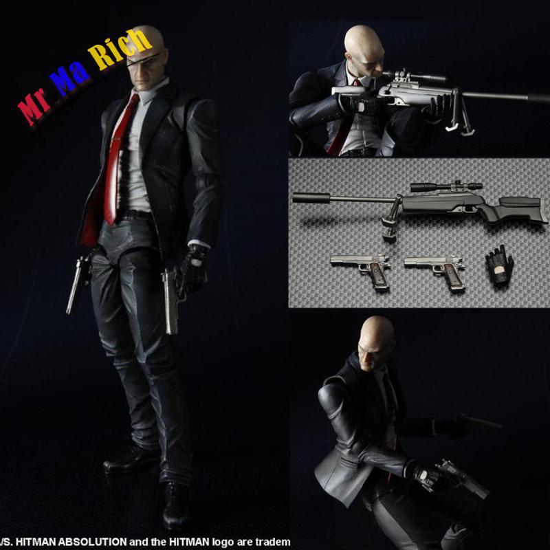 Gioca Arts Hitman Agente Dell'assassino 47 Action Figure Collezione Toy Model 23 Cm