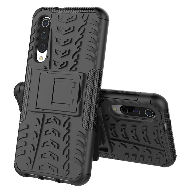 30pcs lot Shockproof Tyre Hard Case For Xiaomi Mi 9 SE Removable Rugged Armor Case With