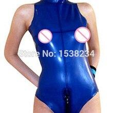 d7c5884999 Latex Catsuit Sleeveless Unitard Latex Swimsuit Rubber Unitard Latex Zentai  Bodysuit(China)