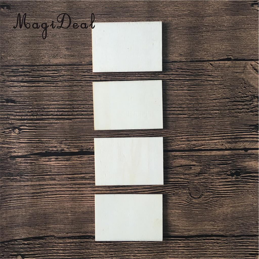 Deliocate 10Pcs Unfinished Wood Rectangle Sign Plaque DIY Crafts New