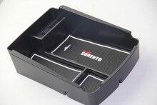 Подлокотник коробка для хранения Контейнер держатель лоток для Kia Sorento 2015 2016 2017 интимные автомобильные аксессуары Организатор укладки