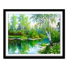 Алмазная живопись DIY 5D алмазная Картина Дерево вышивка рукоделие подарок полный квадратный алмаз круглый вышивка пейзаж