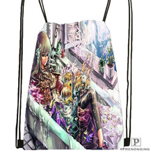 Custom Cute Girl Christmas Drawstring Backpack Bag Cute Daypack Kids Satchel Black Back 31x40cm 2018612 01